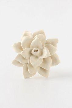 Linen Flower Knob | Anthropologie.eu