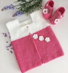 797 Likes, 34 Comments - Deutschland-Almanya 🇩🇪 ( on Instagr. Knit Baby Sweaters, Baby Hats Knitting, Sweater Knitting Patterns, Easy Knitting, Girls Sweaters, Knitted Hats, Baby Cardigan, Autumn Rockers, Diy Crafts Crochet