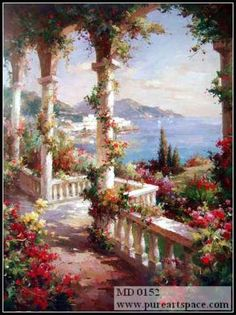 china oil painting manufacturer wholesale all kinds top quality art paintings,painting reproductions Fantasy Landscape, Landscape Art, Landscape Paintings, Art Paintings, Beautiful Paintings, Beautiful Landscapes, Beautiful Gardens, Painting Services, Impressionist Paintings