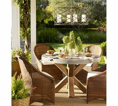 Abbott Round Dining Table Beach Shopping Pinterest Round - Pottery barn concrete dining table