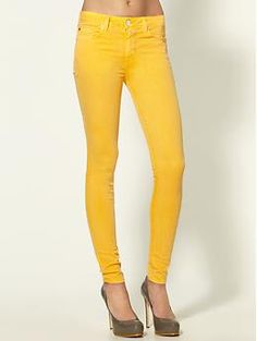 loving the bold color jeans that's so trendy right now, but this might be too much?