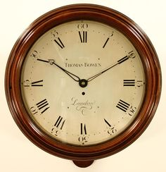 Thomas Bowen, London, mahogany cased called clock with engraved silvered dial…