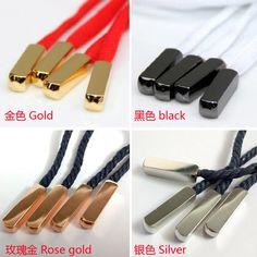 97379196a ... cabeza de metal Cordones para zapatos oro/plata cordones consejos para  Sneaker baloncesto cuadrados zapato Accesorios en Joyas y Componentes de  Joyería ...
