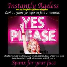 But Seriously! #InstantlyAgeless is just like #Spanx for your Face & works in just 2 Minutes! Contact (918) 636-5105 #InstaYoungAndHealthy #AntiAging #WrinkleFree #WrinkleTreatment #MakeUpArtist #LifeChanging #WrinkleEraser #EyeBags #CrowsFeet #DarkCircles #BestOnTheMarket #PhotoShoot #Wedding #Model #Perfection #Better #Botox #Needless #FaceLift #PlasticSurgery #Younger #GenerationYoung #Salon #HairSalon #BeautySecrets #BeautyBlogger #Blogger #Change #Instant #Results #Funny #Humor