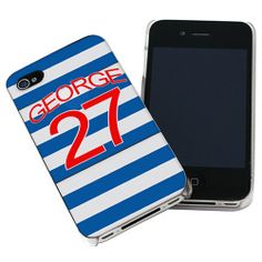 Personalised Queens Park Rangers Style Shirt iPhone Case  from Personalised Gifts Shop - ONLY £14.99