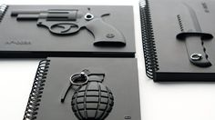 Armed notebooks by Megawing. For world domination note taking.