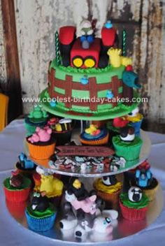 diy farm birthday | Coolest Farmyard Birthday Cake Idea 27