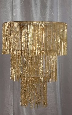 Gold Three Tier Chandelier
