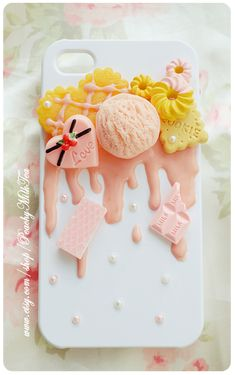 Sugar Pink iPhone4/4s Decoden Case by PeachMilktea.deviantart.com on @deviantART