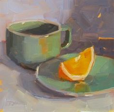Paintings in 30 Days. Day - Original Fine Art for Sale - © Katia Kyte Oil Painting Supplies, Fruit Painting, Oil Painting For Sale, Small Paintings, Beautiful Paintings, Paintings For Sale, Painting Still Life, Still Life Art, Tea Cup Art
