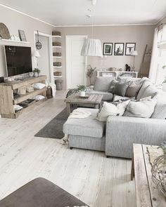 Amazing Small Apartment Living Room 50 - Galoresolution Inc Small Apartment Living Room, Curtains Living Room, Farmhouse Decor Living Room, Modern Farmhouse Living Room, Living Decor, Living Room Grey, Country Living Room, Apartment Decor, Small Apartment Living