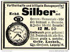 Original-Werbung/ Anzeige 1897 - HERREN - UHR - LOESCH - LEIPZIG - ca. 45 x 30 mm