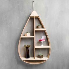 Mid-Century Teardrop Shelf - Dot & Bo
