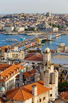 Istanbul Cityscape Photograph  - Arthur Bogacki