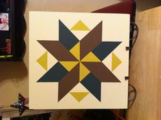 Spinning Star Barn Quilt Sign! Just finished!! I love it!!