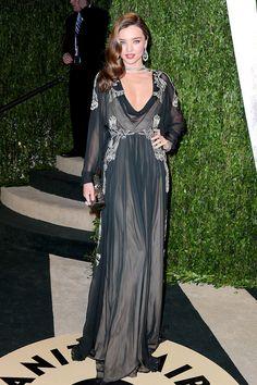 Miranda Kerr, en un look de Valentino Couture FW 12, en la fiesta de gala de Vanity Fair.