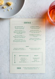 restaurant branding Le Farfalle Branding, Print and Web Design by Outline - Grits + Grids Web Design, Layout Design, Design Blog, Food Design, Graphic Design, Cocktail Menu Design, Menu Cocktail, Drink Menu Design, Cafe Menu Design