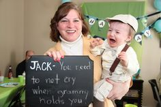 Cute idea for photos with party guests--1st b-day?