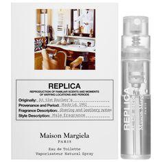 Maison Margiela, Replica: At the Barber's EDT (sample) Fragrance Samples, Perfume Samples, Maison Margiela Perfume, Sephora, Beauty, Eau De Toilette, Beauty Illustration