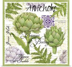 Botanical Artichoke Photo Canvas Print | Great Big Canvas