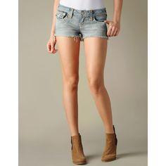True Religion Brand Jeans Joey Pearl Aztec Gold Thread Super T Short ($228)