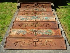 Victorian Stair Risers Victorian Stairs, Architectural Materials, Stair Risers, Hudson Valley, Bohemian Rug, Architecture, Home Decor, Arquitetura, Decoration Home
