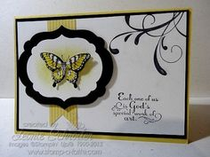 Butterflies are … God's special work of Art! Stampin' Up! Papillon Potpourri, Trust God, Framelits, Everything Eleanor