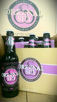 Original Sin Elderberry Cider