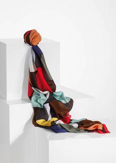 Paul Smith women's square giant spot print silk scarf