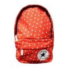 Converse Kids Backpack Red Dots & Stars. Schön das Converse auch diese Saison viele neue Chucks rausbringt, noch viel schöner finden wir, das sie das auch für Kinder machen. Dann ist es ja nur logisch, dass die Designer sich auch Gedanken über die passenden Accessoires machen. Hier geht es um einen Rucksack für Kinder, wenn man cool sein will, könnte man auch sagen Kids Mini Backpack von Converse.