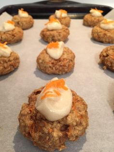 Carrot Cake Cookies with Maple Cream Cheese Frosting  www.foodmates31.com