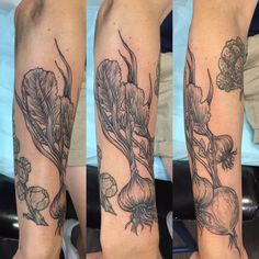 Radish and garlic cloves - Jude Le Tronik - Damask Tattoo Seattle WA
