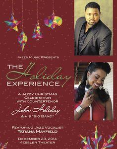 "December 23 @ Kessler Theater - ""The Holiday Experience: A Jazzy Christmas Celebration"" featuring John Holiday | Tatiana Mayfield"