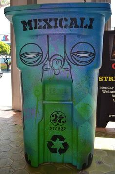 Creative trash cans