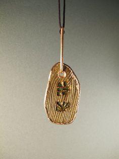 Electroformed stoneware pendant electroformed by AurumgirlStudio