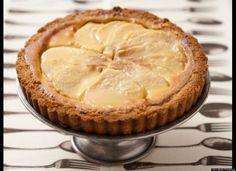 Pear and Almond Custard Tart~