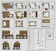Poppy Cottage - Medium Minecraft House Blueprints by planetarymap