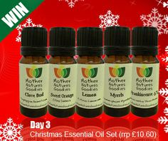 Day 3 Opens at 12.00pm (Saturday 14/12/13) Win our Christmas Essential Oil Set Simply Click on the Link in our Contact Form 12 Days of Christmas Promotion Add your Email Order ID (Day 3) Put your Name in the Message Box Good Luck xx