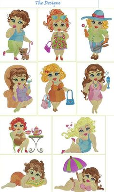 Introduce these 10 sassy ladies to your embroidery machine and they will help you create some fierce projects!