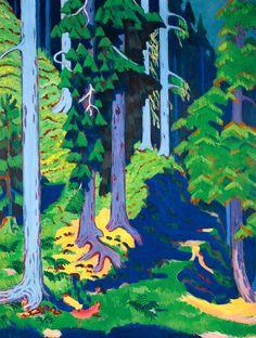"""""""Waldinneres"""", Ernst Ludwig Kirchner (1880-1938). #forest #woods #Kirchner"""