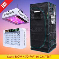 Mars Hydro 300W LED GROW LIGHT + 70x70x160 cm Indoor grow tent.