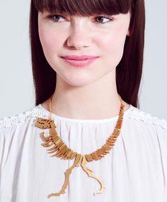 Dinosaur Necklace - gold