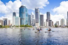 Kayaks, canoes or any other water equipment are a great way to get a new perspective on the Brisbane River and City. do 2015 Nov? Brisbane River, Brisbane Gold Coast, Canoes, Kayaks, Things To Do In Brisbane, Places Ive Been, Places To Go, Land Of Oz, New Perspective