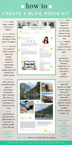 How to Create a Blog Media Kit in 10 Steps