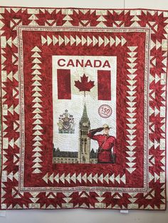 Free Patterns for Pat Sloan's Block of the Month, free quilt patterns, free Bernina classes Flag Quilt, Patriotic Quilts, Patch Quilt, Quilt Blocks, Quilting Projects, Quilting Designs, Quilting Tips, Canadian Quilts, Quilts Canada