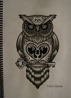 owl tattoos | new owl tattoo by ~FraH on deviantART I like the concept, maybe with a prettier owl