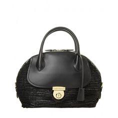 Salvatore Ferragamo Black Fringe Fiamma Bag - Shop perfect looks to wear to  the office and 729356c859860