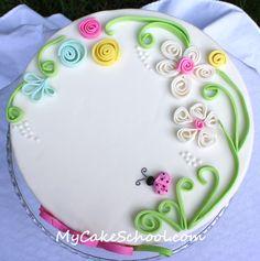 decorate cakes, cake tutorial, gum paste, ladybug cakes, cake decor, themed cakes, fondant tutorial, fondant cakes, birthday cakes