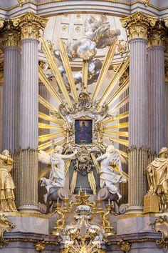 Jakob Christoph Schletterer - andělé na oltáři kostela v Sonntagbergu, 1754-6