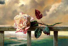 "Cuadros Modernos Pinturas : Bodegones de Rosas realista al Óleo, Alexei Antonov"", Rusia"